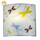 飛舞蜻蜓彩印玻璃壁燈 BL-92507