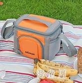 戶外燒烤野炊包 便攜保溫包野營餐具套裝野餐包母乳保鮮包 QX16128 『優童屋』