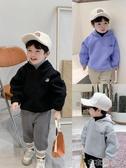 棉小班童裝男童抓絨衛衣寶寶假兩件套頭衫冬季新款兒童洋氣上衣潮