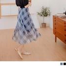《CA2295-》質感網格鬆緊飄逸紗裙 ...