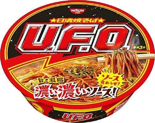 【小福部屋】日本 日清 炒麵 UFO U.F.O 飛碟炒麵 醬油口味 128g*12個 泡麵【新品上架】