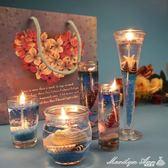 果凍蠟燭 海洋系列禮品歐式創意香薰 浪漫情人節求婚生日表白禮物 優家小鋪
