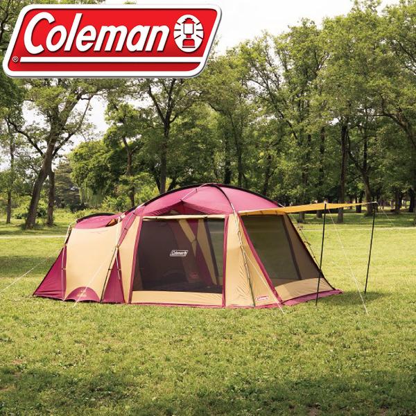 【Coleman 美國 TOUGH SCREEN 2-ROOM(一房一廳)《勃根地》】CM-32598/帳篷/客廳帳/露營