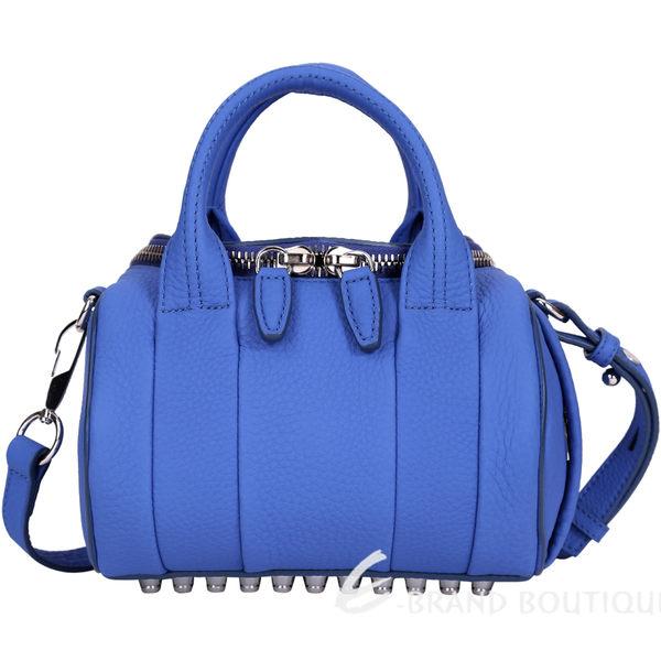 Alexander Wang Mini Rockie 荔紋羊皮兩用提包(藍色) 1620692-23