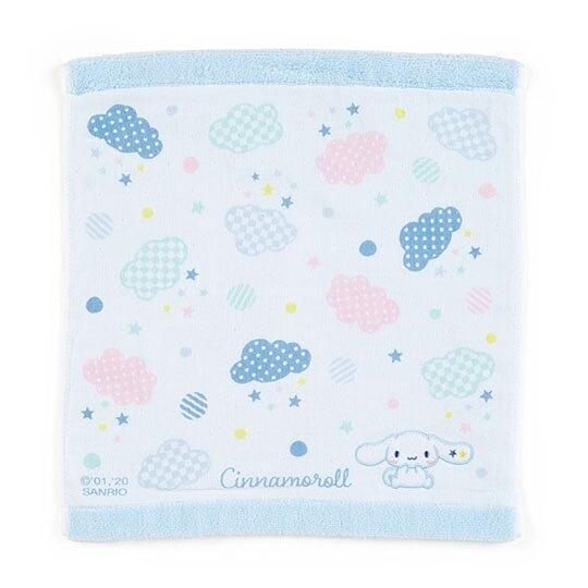 小禮堂 大耳狗 紗布短毛巾 純棉毛巾 方形毛巾 34x36cm (淡藍 雲朵) 4550337-43183