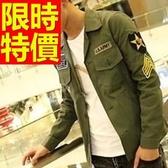 軍裝外套-裝潮流修身休閒獵裝男外套5色62o6【巴黎精品】