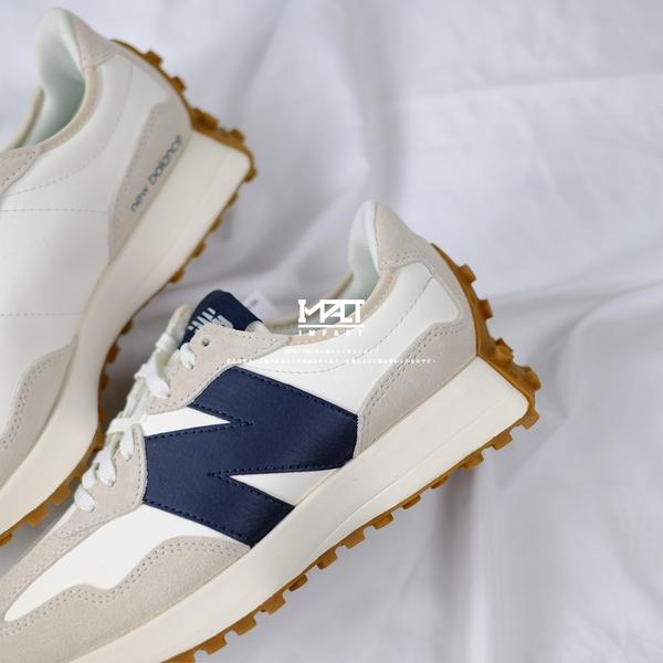 IMPACT New balance 327 海鹽 深藍 皮革款 焦糖底 日系 復古 慢跑鞋 休閒鞋 WS327KB