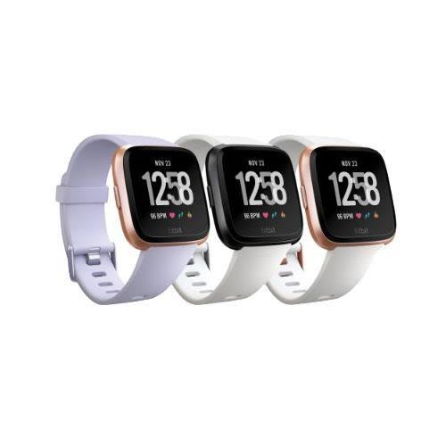 Fitbit Versa 智能運動手錶 (金框紫)
