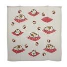 幸福貓 原棉紗布+毛巾布 小方巾 -粉