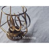 early Morning - 鈦鋼 極簡 第一章 大圓圈耳環 4.8cm 粗款 防過敏【CC100】