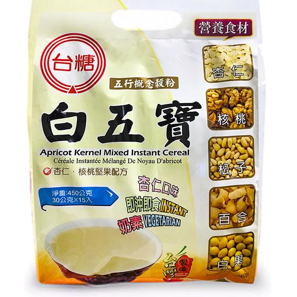 【台糖優食】白五寶_量販包 x2袋(15包/袋) ~五行概念穀粉