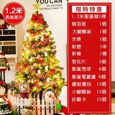 (交換禮物)現貨!聖誕樹1.2米套餐迷你聖誕樹裝飾燈挂件家用布置場景樹