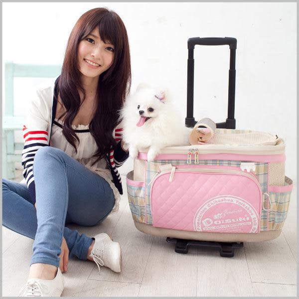 *KING WANG*Daisuki《第四代-日式多功能寵物包》可另加購推車拉桿 CB07-003 (L)