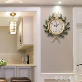 美式 田園創意藝術家庭時鐘客廳靜音鐘復古家用裝飾臥室大掛鐘錶-享家生活館 IGO