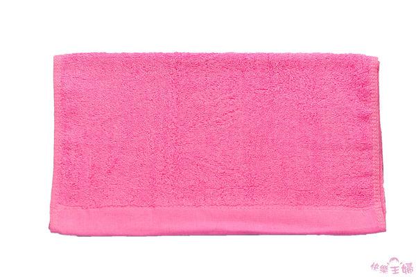 素色毛巾 32兩商用 / 桃粉色 / 美容 美髮 100g 100%純棉 / 台灣專業製造【快樂主婦】