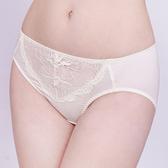 思薇爾-半熟美人系列M-XXL蕾絲中腰三角內褲(珍珠米)