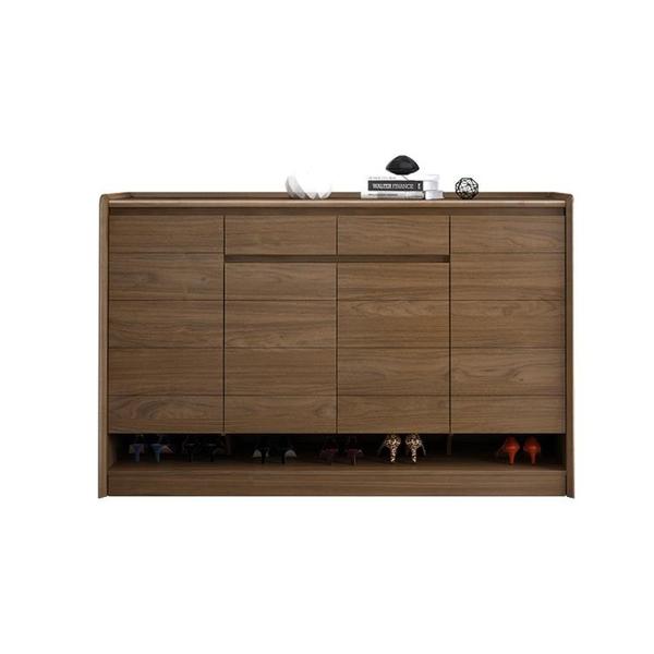 鞋櫃北歐實木鞋柜現代中式進門口門廳玄關柜客廳大容量多功能儲物柜子LX 嬡孕哺