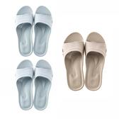 (組)嚴選Q彈家居拖鞋純真藍Sx2+水泥灰L x1