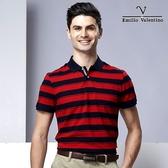 Emilio Valentino 美國休閒風橫條紋 - 藍/紅