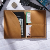 原創手工頭層真牛皮護照夾復古通用保護套機票多功能卡套證件 聖誕交換禮物