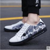低筒男鞋子潮流男士休閒鞋學生百搭帆布板鞋透氣潮鞋