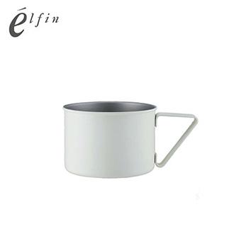 日本高桑elfin 露營野餐馬克杯370ml-白