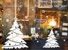壁貼 新年聖誕裝飾牆貼 聖誕樹貼紙 純白...
