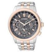 CITIZEN 星辰Eco-Drive光動能 專業穩重時尚腕錶-咖啡x金/43mmBU2026-65H
