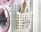【吸盤掛式髒衣籃】小號 髒衣服收納籃 收納筐 置物籃 髒衣簍 洗衣籃