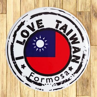 【胸章】台灣國旗郵戳 # 宣傳、裝飾、團體企業 多用途胸章 5.8cm x 5.8cm