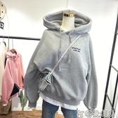 超火cec連帽T恤女新款韓版ins潮寬鬆加絨加厚連帽假兩件上衣外套(快速出貨)