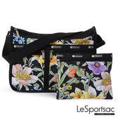 LeSportsac - Standard雙口袋A4大書包-附化妝包 (盛夏/黑) 7507P F102