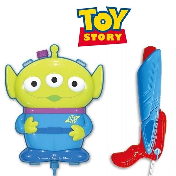 日本 迪士尼 玩具總動員家族 三眼怪 兒童玩具水槍 / 後背式玩具水槍