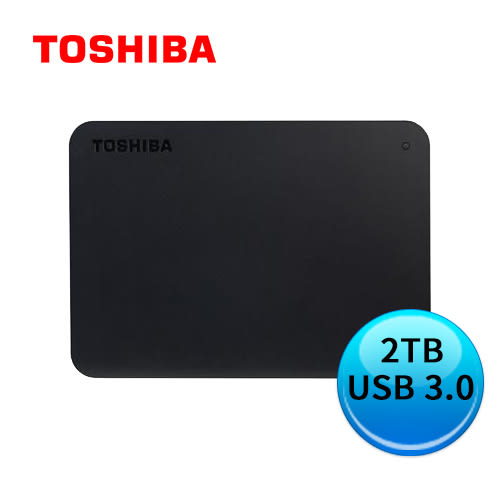 TOSHIBA 東芝 Canvio A3 Basics 黑靚潮lll 2TB 2.5吋 外接硬碟