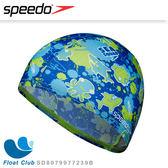 【Speedo】兒童彈性卡通造型泳帽 Sea squad 藍 (適用2-6歲) SD8079977239B