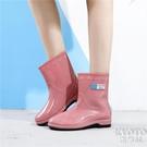 防滑雨鞋雨靴水膠鞋超級防滑女防臭耐磨底時尚款外穿 京都3C