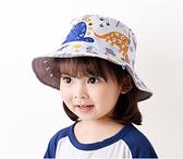 兒童漁夫帽 幼兒防曬帽 恐龍漁夫帽 男寶寶女寶寶雙面帽 孩童遮陽帽 88485