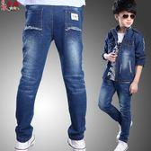 衣童趣 ♥中大男童 新款時尚牛仔長褲 薄款刷白修身 帥氣長褲