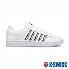 【超取】K-SWISS Court Winston Tape時尚運動鞋-男-白/黑/灰