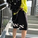 休閒短褲 潮牌夏季休閒短褲男寬鬆港風ins潮流百搭五分褲cec超火運動沙灘褲