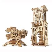 新品預購 Ugears 自我推進模型 - 守護者箭塔  來自烏克蘭.橡皮筋動力.機械驚奇 ! 科學玩具