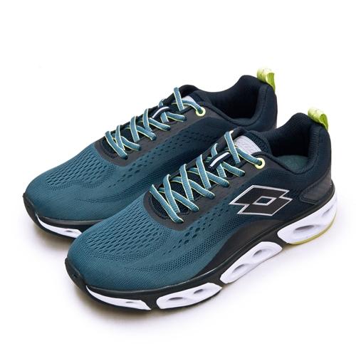 LIKA夢 LOTTO 專業風動慢跑鞋 AIR FLOW 4.0系列 藍螢綠 2136 男