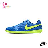 NIKE足球鞋 兒童足球鞋 室內鞋足球鞋 男童女童足球鞋 TIEMPO LEGEND P7273#藍色◆OSOME奧森鞋業