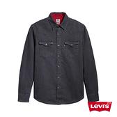 Levis 男款 牛仔襯衫 / 黑灰水洗 / 撞色燈心絨內裏