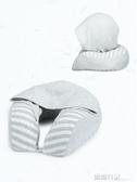 連帽u型枕記憶棉護頸枕旅行枕飛機枕頭記憶枕脖子頸枕u形頸椎枕頭 露露日記