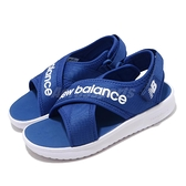 New Balance 涼鞋 NB 650 藍 白 童鞋 中童鞋 涼拖鞋 【ACS】 YO650ACM