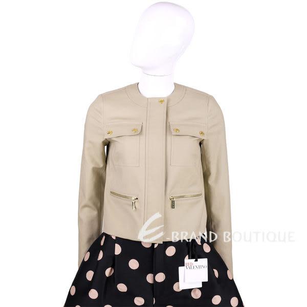 MICHAEL KORS 卡其色口袋設計拉鍊外套 1510776-28
