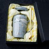創意北歐ins陶瓷杯子個性男學生家用水杯星座馬克杯帶蓋勺咖啡杯 薔薇時尚