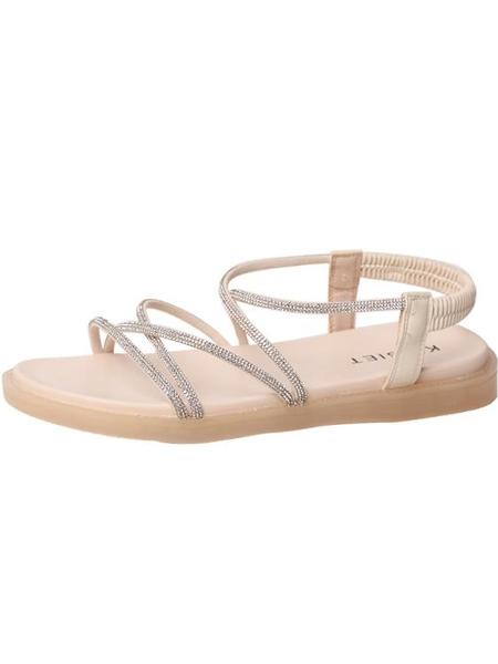 水鑽平底防滑羅馬鞋