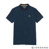 【GIORDANO】 男裝G-MOTION涼感POLO衫 - 52 仿段彩海軍藍